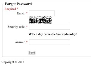 forgotten or reste your password